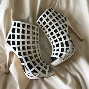 Caged ankle heels